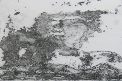 Gewitterwolke überm Jura, Radierung, 2014, 19x27.5 cm (Werk), 10x15 cm (Druck)