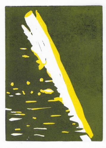 Lichtspiel auf Stein, Linoldruck, 2021, 30x21 cm