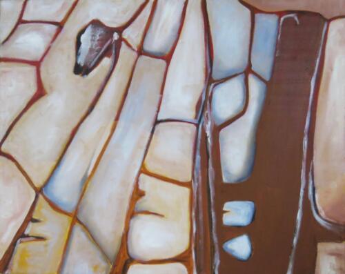 Gestein überm Rüttelhorn, Öl auf Baumwolle, 2011, 40x50 cm