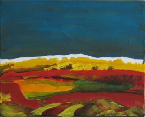 Landschaft, Öl auf Baumwolle, 2010, 24x30 cm