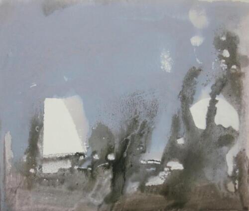 Traumfragment, Mischtechnik auf Leinwand, 2016, 60x70 cm