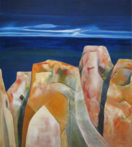 Griechische Steine, Öl auf Leinwand, 2003, 130x115 cm