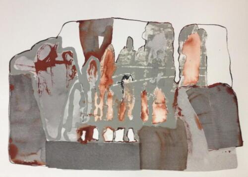 o.T. Tusche und Acryl auf Büttenpapier, 2017
