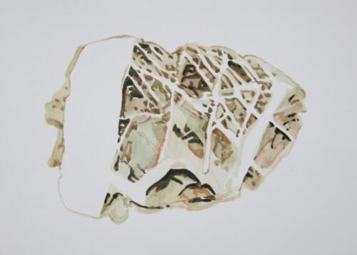 Stein M. Aquarell auf Aquarellpapier, 2020, 21x30 cm